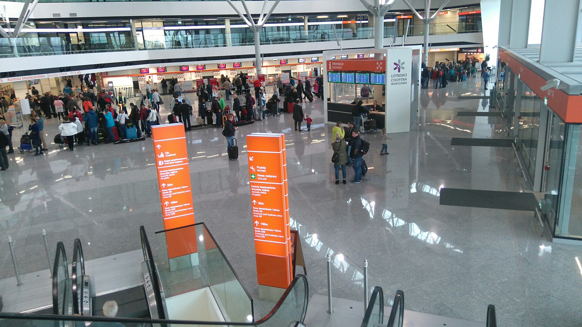 pętla indukcyjna na Lotnisku im. F. Chopina w Warszawie