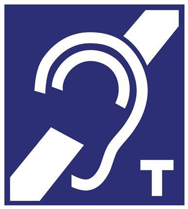 Pętla indukcyjna dla osób niedosłyszących piktogram